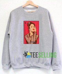 La Reina Selena Quintanilla Grey Sweatshirt Unisex