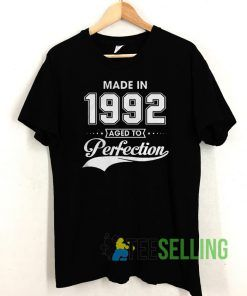 Made in 1992 T shirt Unisex Adult Size S-3XL