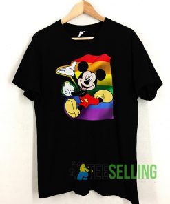 Mickey Mouse Pride LGBT T shirt Unisex Adult Size S-3XL