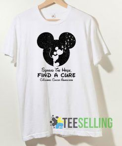 Mickey Mouse Spread the Hope T shirt Unisex Adult Size S-3XL