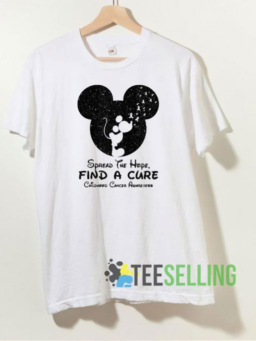 Mickey Mouse Spread the Hope T shirt Unisex Adult Size S 3XL
