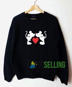 Mickey and Minnie First Kiss Sweatshirt Unisex