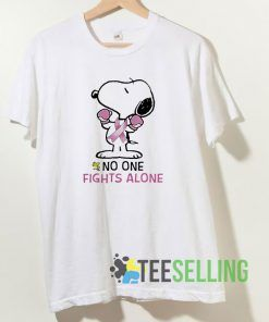 Snoopy No One Fights Alone Unisex Adult Size S-3XL