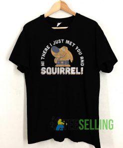Squirrel T shirt Unisex Adult Size S-3XL