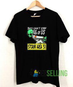 Strom Area 51 Running Alien T shirt Adult Unisex Size S-3XL