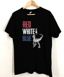 T-Rex Red White and Blue T shirt Unisex Adult Size S-3XL
