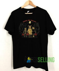 Trick Or Treat Halloween T shirt Adult Unisex Size S-3XL