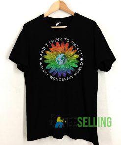 Wonderful World LGBT T shirt Unisex Adult Size S-3XL