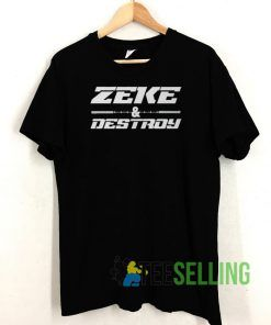 Zeke And Destroy Football T shirt Unisex Adult Size S-3XL