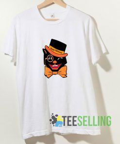 Halloween Cat Skull T shirt Adult Unisex Size S-3XL
