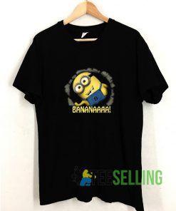 Minion Banana T shirt Adult Unisex Size S-3XL