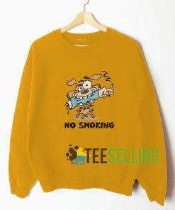 No Smoking Gold Yellow Sweatshirt Unisex