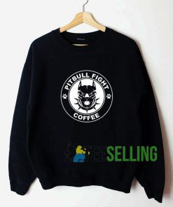 Pitbull Fight Coffee Sweatshirt Unisex