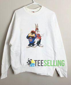 Throwback Bugs And Taz Sweatshirt Unisex