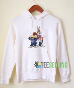 Throwback Bugs And Taz Hoodie Adult Unisex