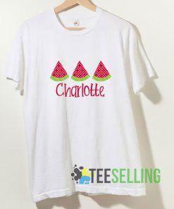 Watermelon Charlotte T shirt Adult Unisex Size S-3XL