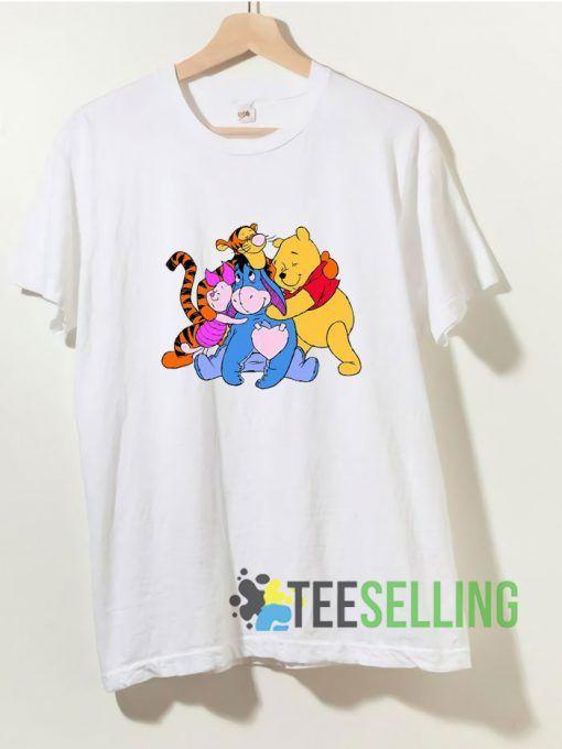 Winnie Pooh Friends T shirt Adult Unisex Size S 3XL