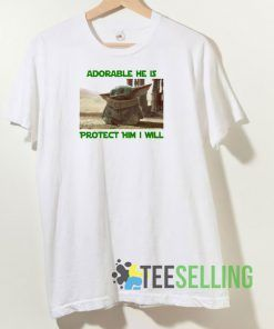 Adorable He Is Baby Yoda T shirt Adult Unisex Size S-3XL
