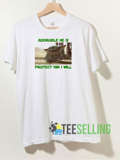 Adorable He Is Baby Yoda T shirt Adult Unisex Size S 3XL