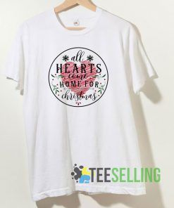 All Hearts Come On For Christmas T shirt Adult Unisex Size S-3XL