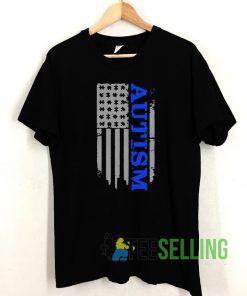 Autism Awareness Blue T shirt Adult Unisex Size S-3XL