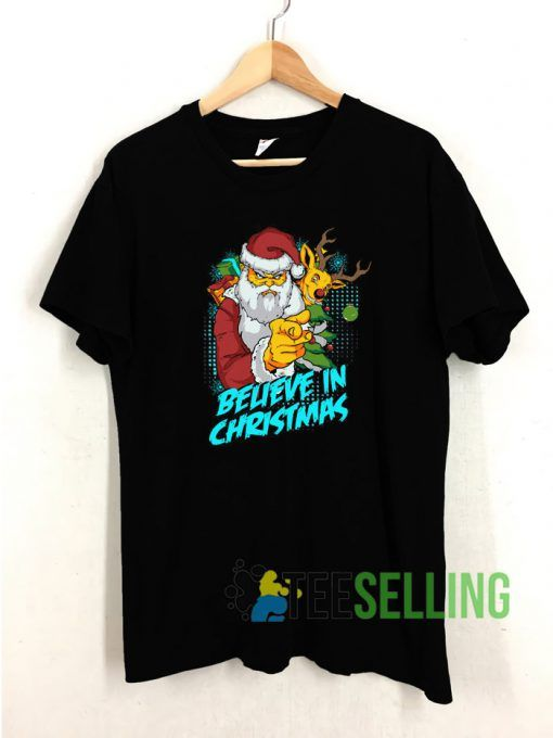Believe In Christmas T shirt Adult Unisex Size S 3XL