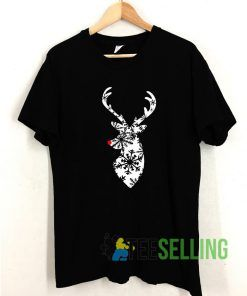 Christmas Stag Deer T shirt Adult Unisex Size S-3XL