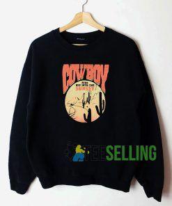 Cow Boy Sweatshirt Unisex Adult