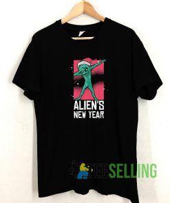 Dabbing Alien New Year T shirt Adult Unisex Size S-3XL