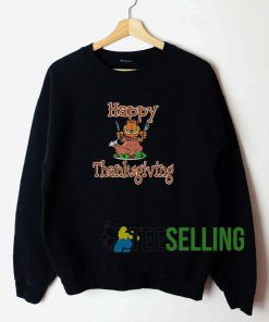 Garfield Happy Thanksgiving Sweatshirt Unisex Adult