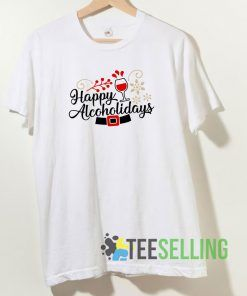 Happy Alcoholidays T shirt Adult Unisex Size S-3XL