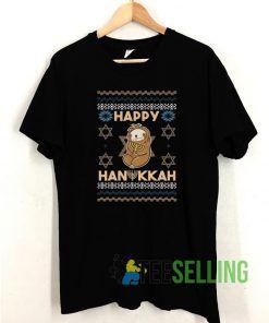 Happy Hanukkah T shirt Adult Unisex Size S-3XL