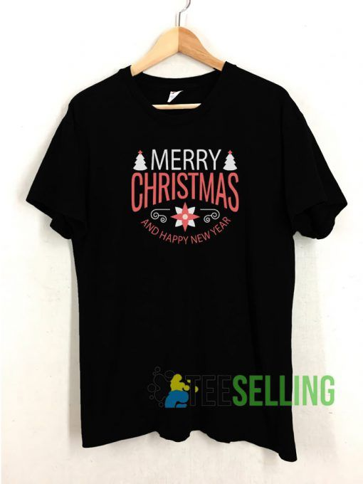 Merry Christmas and Happy New Year T shirt Adult Unisex Size S 3XL