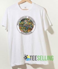 Psychedelic Research Volunteer T shirt Adult Unisex Size S-3XL