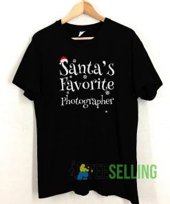 Santa's Favorite Photographer T shirt Adult Unisex Size S-3XL