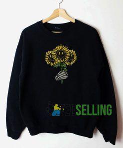 Smiley Sunflower Sweatshirt Unisex Adult