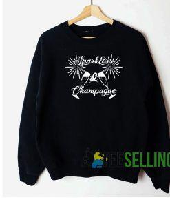 Sparkles And Champagne Sweatshirt Unisex Adult