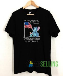 Stitch Our Flag Does Not Fly T shirt Adult Unisex Size S-3XL