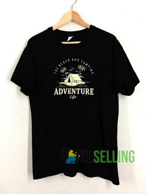 Adventure Camping T shirt Adult Unisex Size S-3XL