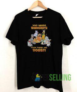 Disney Who Needs Diamonds T shirt Adult Unisex Size S-3XL
