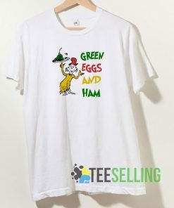 Green Eggs And Ham T shirt Adult Unisex Size S-3XL