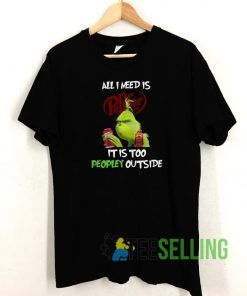 Grinch All I Need Is Dr Pepper T shirt Adult Unisex Size S-3XL