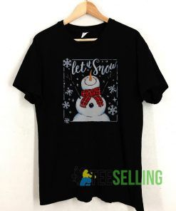 Merry Christmas Let It Snow T shirt Adult Unisex Size S-3XL