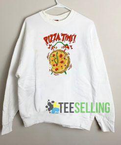 Pizza Time Sweatshirt Unisex Adult