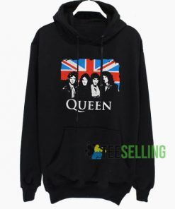 Queen And Flag Of The United Hoodie Adult Unisex