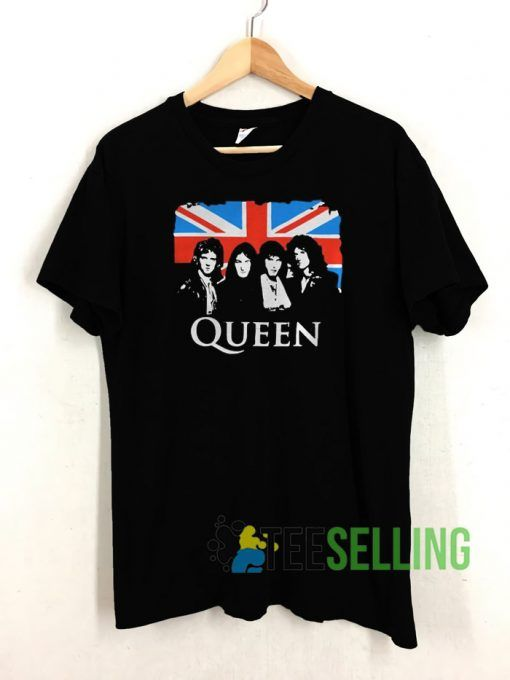 Queen And Flag Of The United T shirt Adult Unisex Size S-3XL