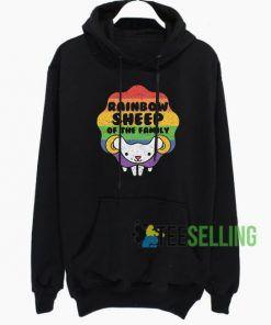 Rainbow Sheep Hoodie Adult Unisex