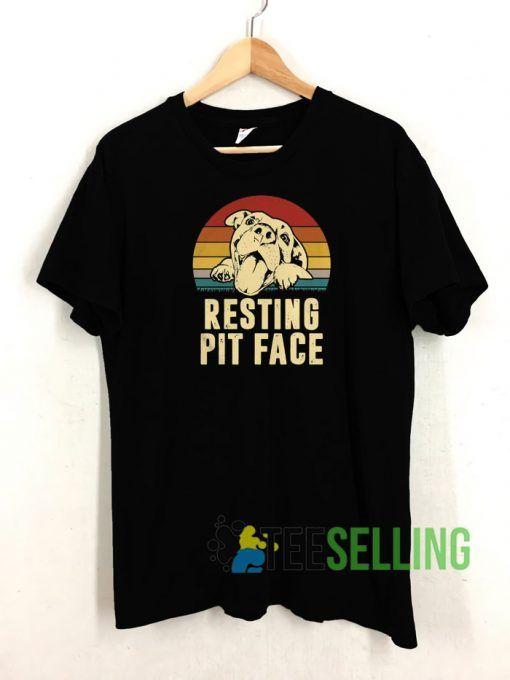Resting Pit Face T shirt Adult Unisex Size S 3XL