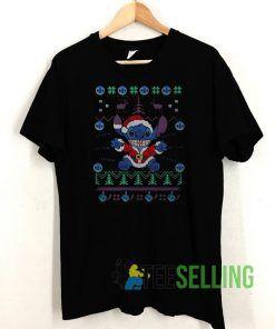 Stitch Christmas T shirt Adult Unisex Size S-3XL
