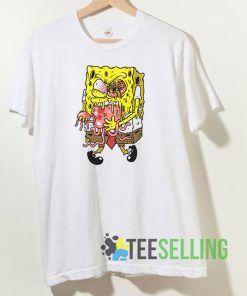 Zombie Sponge T shirt Adult Unisex Size S-3XL